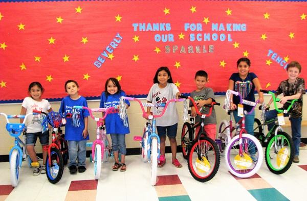 Bike winners for perfect attendance